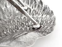 Victorian Silver Plated Toast Rack Shaped as a Bird Wing Engraved with Feathers (8 of 10)