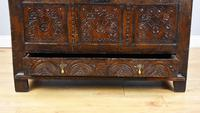 17th Century Oak Carved Coffer with Drawer (11 of 14)