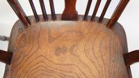 Pair Georgian Oak & Elm  Windsor armchairs (7 of 20)