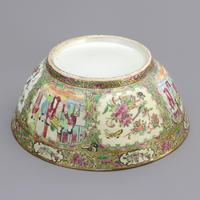 19th Century Cantonese Famille Rose Porcelain Bowl c.1880 (7 of 8)