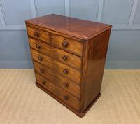 Victorian Tall Mahogany Chest of Drawers (11 of 12)