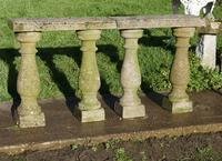 Weatherworn Concrete Balustrade, Columns & Coping Stones (3 of 7)