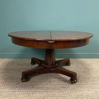 Antique Victorian Mahogany Pedestal Extending Dining Table (2 of 7)