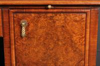 Large Queen Anne Style Burr Walnut Desk (3 of 17)