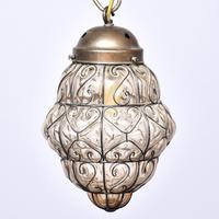Set of 4 Murano-type Basket Light Fittings