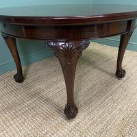 Edwardian Walnut Wind Out Extending Antique Dining Table (9 of 10)