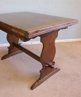 Refectory Oak Draw Leaf Dining Table c.1930 (7 of 11)