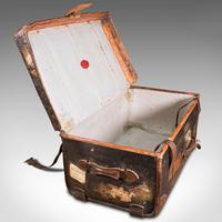 Vintage Overseas Voyage Trunk, English, Leather, Travel Case, Luggage c.1930 (8 of 12)
