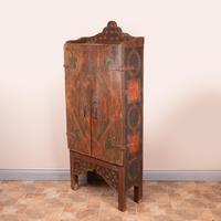 19th Century Spanish Painted 2 Door Cupboard (9 of 21)