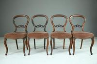 Set of 4 Rosewood Balloon Back Dining Chairs (4 of 12)