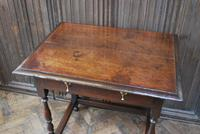 Early Oak Country  Side Table (3 of 6)