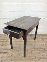 Antique Georgian Oak Side Table with Drawer (13 of 13)