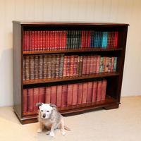 Large Oak Open Bookcase (5 of 9)