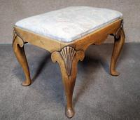 Queen Anne Style Walnut Stool c.1920 (8 of 10)