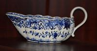 18th Century Derby Blue & White Chinoiserie Sauce Boat (11 of 12)