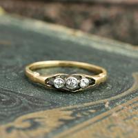 The Antique Three Diamond Bezel Set Ring (2 of 6)