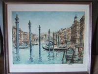 William Monk: aquatint of Grand Canal, Venice