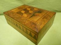 Large Tunbridge Ware Style Jewellery Box - Original Tray c.1870 (14 of 16)