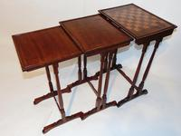 Regency mahogany nest of three tables