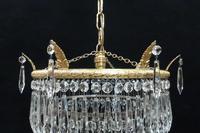 Italian Art Deco Five Tier Crystal Glass Chandelier, 1930s (3 of 7)
