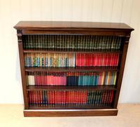 Late 19th Century Open Mahogany Bookcase (2 of 10)