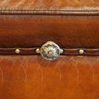 Large Victorian Leather Ottoman (9 of 9)