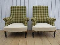 Pair of Napoleon III French Armchairs for re-upholstery (2 of 9)