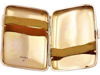 9ct Rose Gold & Enamel Cigarette Case - Antique Edwardian (6 of 12)