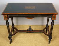 Outstanding Aesthetic Ebonised Burr Walnut Table c.1870 (5 of 10)