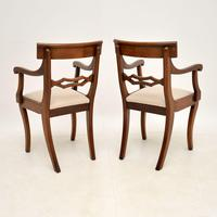 Pair of Antique Regency Period Mahogany Carver Armchairs (11 of 11)