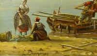 Louis Dommersen – 'Elburg on The Zuider Zee' – Late 19th Century Oil on Panel (3 of 4)