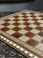 Rosewood bone and mother of Pearl chess board (5 of 7)