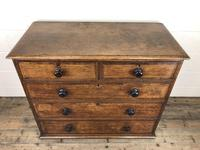 19th Century Antique Oak Chest of Drawers (11 of 13)
