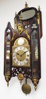 Very Rare English Fusee 5 Inch Dial Wall Clock Mahogany Gothic Ormolu Wall Clock by James Parker Cambridge (8 of 12)