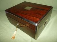 Quality Edge Bound Rosewood Gents Fitted Dressing Box c.1850 (7 of 16)