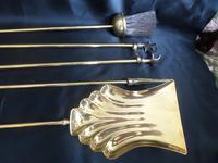 Brass Long Fireside Companion Set 1910s (4 of 5)
