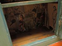 Antique Painted Swedish Cupboard with Vintage Saucy Lady Photos to the Interior (9 of 17)