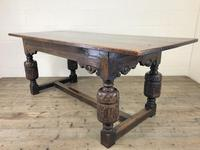 Antique Carved Oak Refectory Dining Table (3 of 15)