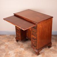 Mahogany Kneehole Desk With Brushing Slide (4 of 17)
