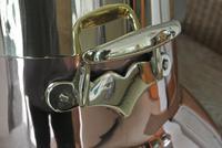 19th Century Dutch Copper & Brass Ash Bucket 'Doofpot' Peat Castellated Seam (3 of 9)