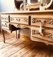 French Antique Dressing Table / Vintage Dressing Table / Louis XV Style Vanity (3 of 6)