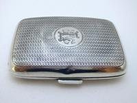 Edwardian 1902 English Antique Solid Sterling Silver Hip Pocket Small Cigarette Case (3 of 10)