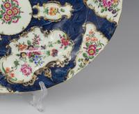 Large First Period Worcester Porcelain Blue Scale Leaf Dish c.1770 (3 of 8)