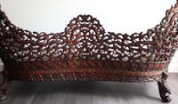 Burmese intricately carved settee in extremely good condition. (7 of 9)