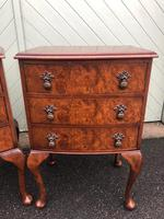 Pair of Antique Burr Walnut Bedside Chests (3 of 9)