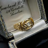 Antique Diamond Lovers Knot 18ct Gold Ring (6 of 7)