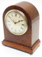 Fantastic Burr Walnut Mantle Clock Rare Snake Hands 8 Day Mantle Clock (10 of 11)