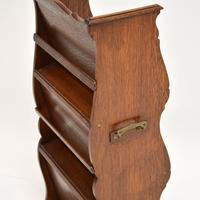 Antique Arts & Crafts Oak  Open  Bookcase (10 of 12)