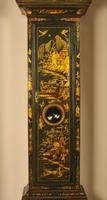 Windmills Green Lacquer Chinoiserie Longcase Grandfather Clock (8 of 10)