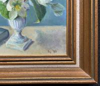 Fabulous Original 20th Century Floral Still Life Study Oil on Board Painting (10 of 11)